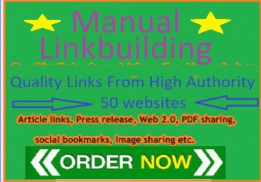 50 manual link building backlinks for your website
