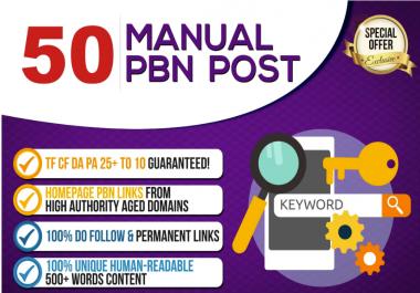 manually do 50 powerful homepage pbn links