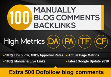 Do 100 high Quality dofollow blog commenting backlinks with High DA