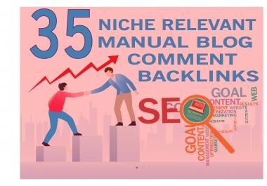 DO 35 Niche Relevant Blog Comment
