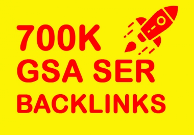 Bumper Offer 7,00,000 HQ Powerful GSA Backlinks For Increase LinkJuice Faster Index on Google only