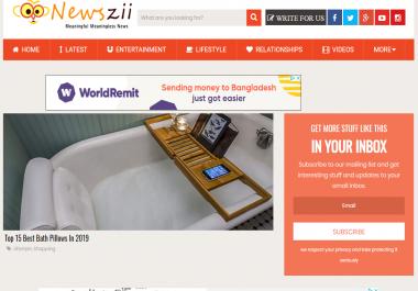 Guest post on Newszii news website – DA53