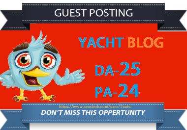 Guest Post On DA25 Yacht Blog Site