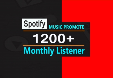 Organic 1200+ Monthly Listeners, Music Promotion For Artist Profile Boost streams
