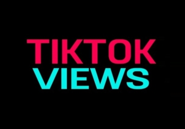 tiktok video Views Lifetime Guarantee And High Retention (Instant Start)