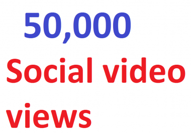 50,000 video Views Lifetime Guarantee And High Retention (Instant Start)