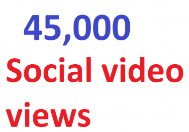 45,000 video Views Lifetime Guarantee And High Retention (Instant Start)