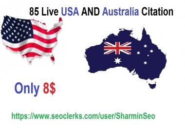 create 85 live Local SEO Citation for USA and Australia