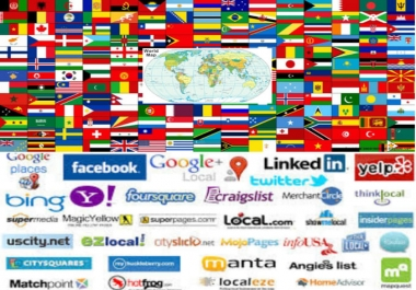 50 live local SEO citation for any country