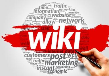 Wiki articles 150 Backlinks (contextual backlinks) - Full Details