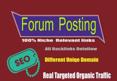 Best Quality 30 Forum Posting Backlinks