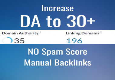 I will increase your website's DA to 30