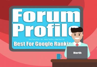 Create 3000 High Pr Forum Profile Dofollow Backlinks