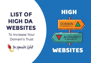 50 High pr DA,PA dofollow Backlinks For google rank