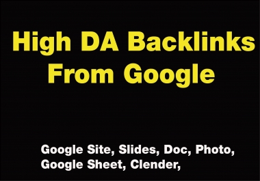 High DA Value-able Back-links From Google