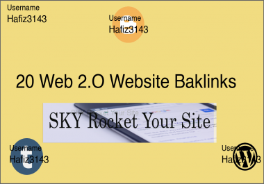 Manually Created Index-able Web 2.0 Site Contextual Dedicated Back-links SKY Rocket Your Site