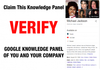 I will help you claim and verify google knowledge graph and panel