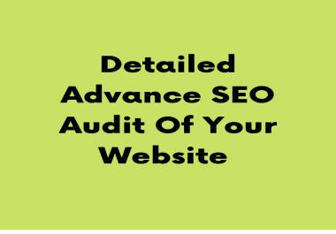 Provide You Advance SEO Audit of your webiste