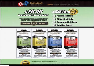 Backlink Reseller Website - Outsourced Online Business Selling Backlinks