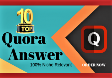 Promote your website with 10 quantity Quora Answers With Clickable Link