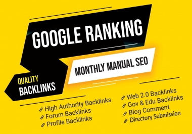 Monthly (30 days) High Quality SEO Backlinks Service
