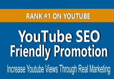 Promote YouTube Video for Ranking Promotion and SEO