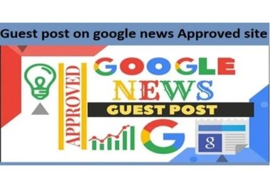 I will guest post on my google approved news site DA 27
