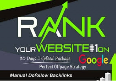 I will create 30 day drip feed SEO backlinks for daily update