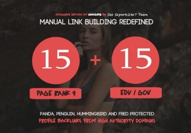 Fire Your Google Ranking - 15 Pr9 + 15 Edu - Gov High Pr SEO Authority Backlinks