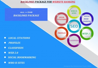 Boost your Website Ranking with All-in-one Manual High Authority SEO Backlinks Package