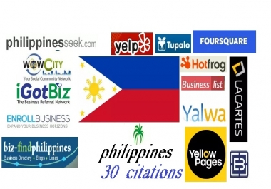 Get Accurate 30 Best Philippines/Spain/Greece/Poland/Thailand Local Citations