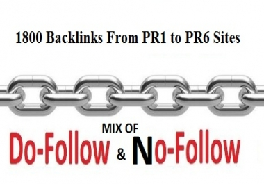 I Will Build 1800 Backlinks From PR1 to PR6 Sites