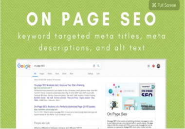 Write SEO page titles and meta descriptions for your website