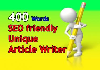 write 400 words unique seo friendly article