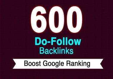 i will Provide 600+ Dofollow backlinks High authority