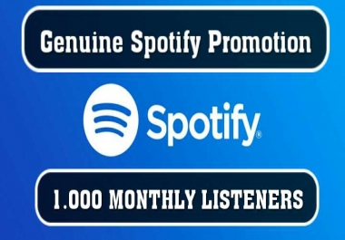 1,000+ Real Monthly Listener for Your Artist Profile