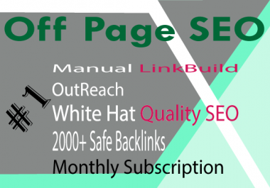 do OFF page seo and 800 backlink creation, PBN backlinks and google rank #1