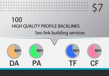 100 creative profile backlinks creation service