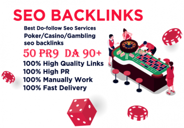50 manual high quality social bookmarking for poker casino website within 24 hours