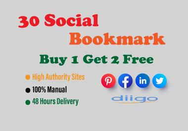 30 social bookmarking backlinks for your website