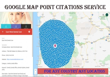 I will do 300+ map point citations for any country