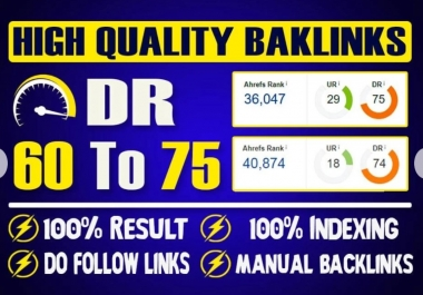 I will create 10 DR 60 to 75 PBN contextual dofollw backlinks for good seo results