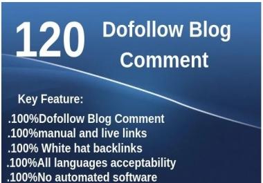 DO 120 Unique Domain Dofollow Blog Comments Backlinks DA PA (20)TO(80) High Quality sites