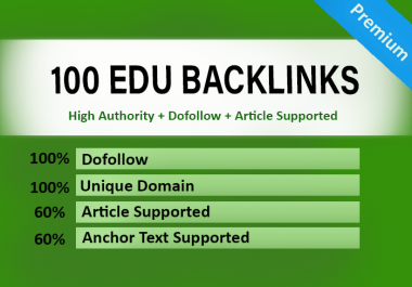 100 EDU Backlinks Dofollow USA Based and Manually Created