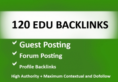 120 EDU Backlinks USA Based and Manually Created