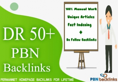 Build 10 Permanent DR 60+ Homepage PBN Dofollow Backlinks with Unique Content
