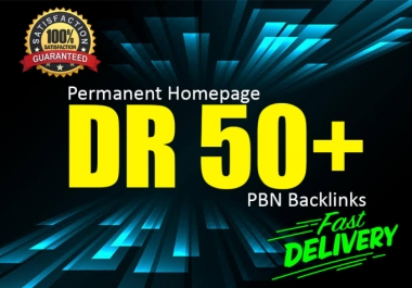 Build 8 Permanent DR 50+ Homepage PBN Dofollow Backlinks with Unique Content