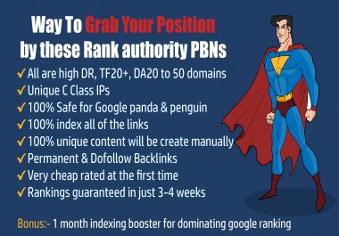 60 Powerful High Quality Homepage PBN Dofollow Backlinks