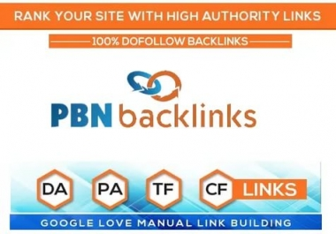 Build 25 Permanent High Quality Homepage PBN Dofollow Backlink