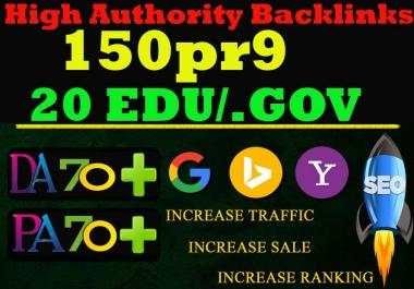 Exclusive 170 Backlink Service-150 PR9 DA 80-100 + 20 EDU/GOV HighPR Backlink ToFire Your Google Ran